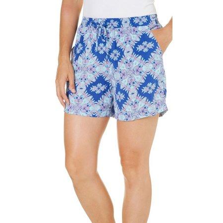 Dept 222 Petite Cabana Nights Printed Soft Shorts