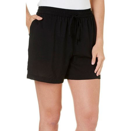 Dept 222 Petite Cabana Nights Solid Pull-On Shorts