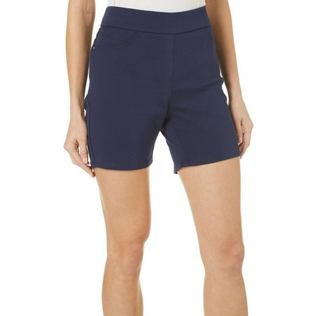 Dept 222 Petite Pull On Bermuda Shorts