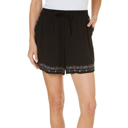 Dept 222 Petite Caribbean Dreams Pull-On Shorts