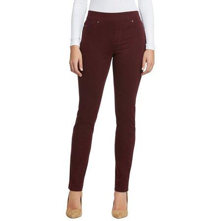 Gloria Vanderbilt Petite Avery Pull-On 5-Pocket Pants