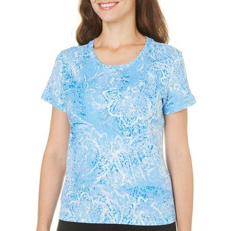 Gloria Vanderbilt Petite Sea of Paisley T-Shirt
