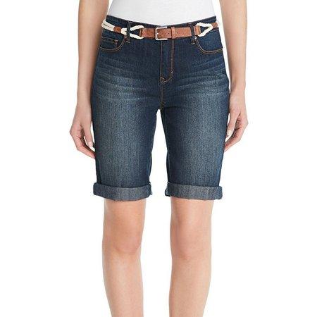 Gloria Vanderbilt Petite Rachel Belted Shorts
