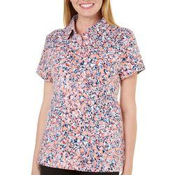 Gloria Vanderbilt Petite Annie Mosaic Polo Shirt