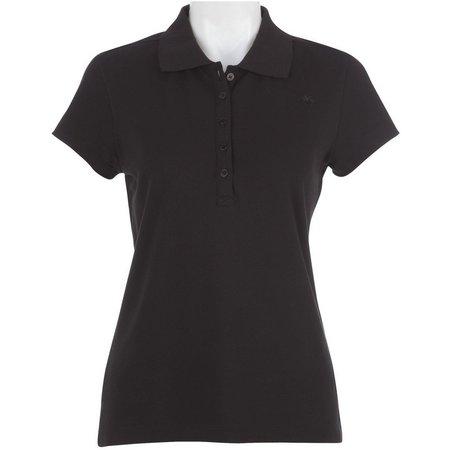 Gloria Vanderbilt Petite Astra Pique Polo Shirt