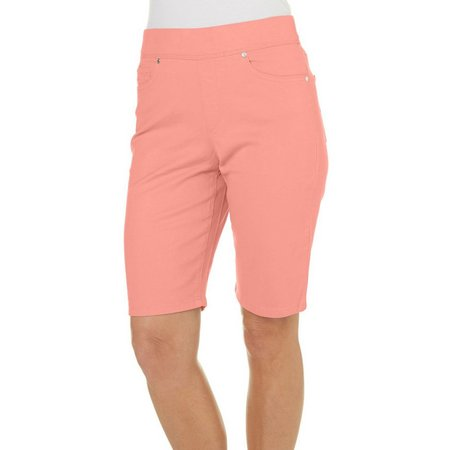 Gloria Vanderbilt Petite Solid Avery Shorts