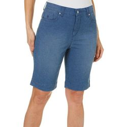 Gloria Vanderbilt Petite Amanda Checkered Shorts