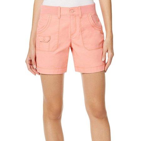 Gloria Vanderbilt Petite Petra Rib Shorts