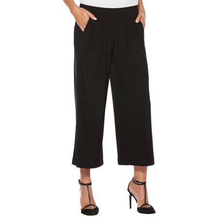 New! Rafaella Petite Solid Wide Leg Pull-On Pants