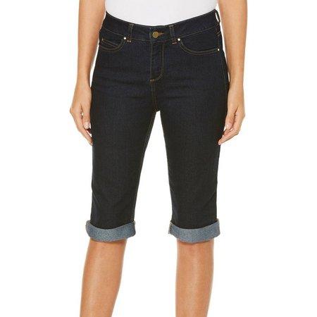 Rafaella Petite Denim Cuff Bermuda Shorts