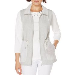 Rafaella Petite Sleeveless Mesh Pockets Vest