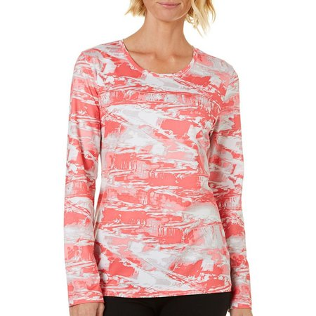 Coral Bay Petite Abstract Geo Print Long Sleeve