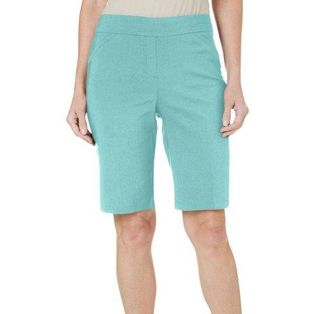 Coral Bay Petite Solid Millenium Elastic Shorts