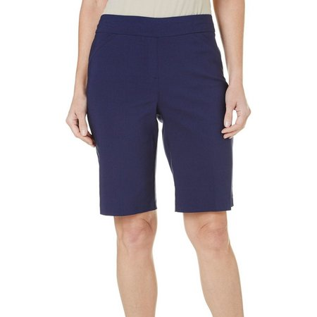 Coral Bay Petite Millennium Solid Shorts