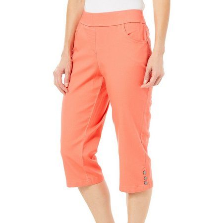 Coral Bay Petite Solid Pull-On Capris