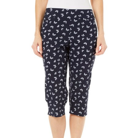 Coral Bay Petite Millennium Butterfly Pull-On Capris