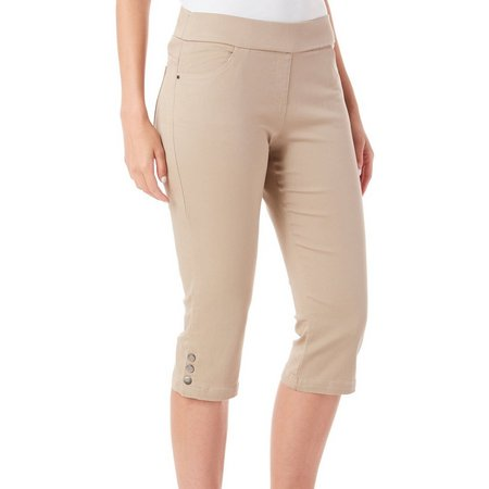 Coral Bay Petite Pull-On Stretch Capris