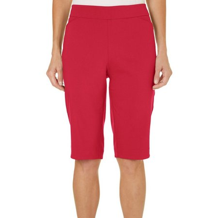 Coral Bay Petite Solid Side Accent Skimmer Shorts