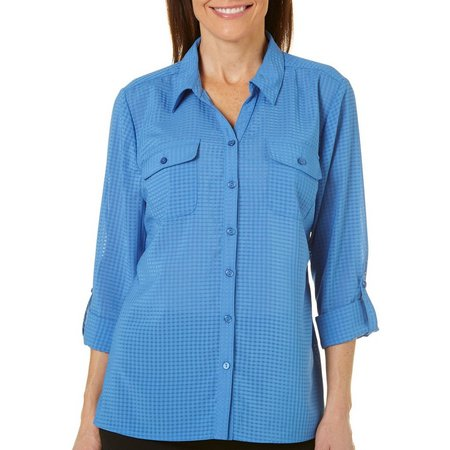 Coral Bay Petite Solid Utility Woven Top