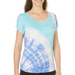 Coral Bay Petite Tie Dye Burnout High-Low Top