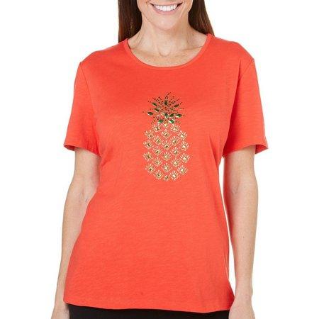 Coral Bay Petite Havana Embellished Pineapple Top