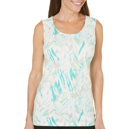 Coral Bay Petite Natural Coast Shard Tank Top