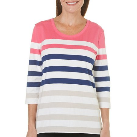 Coral Bay Petite Stripe Top