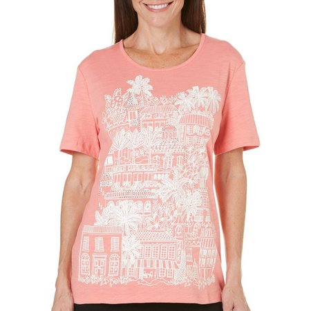 Coral Bay Petite Natural Coast Citywalk Top