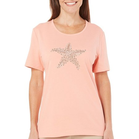 Coral Bay Petite Journey Embellished Starfish Top