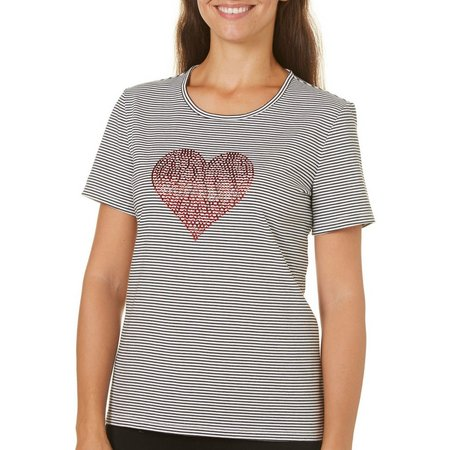 Coral Bay Petite With Love Striped Red Heart