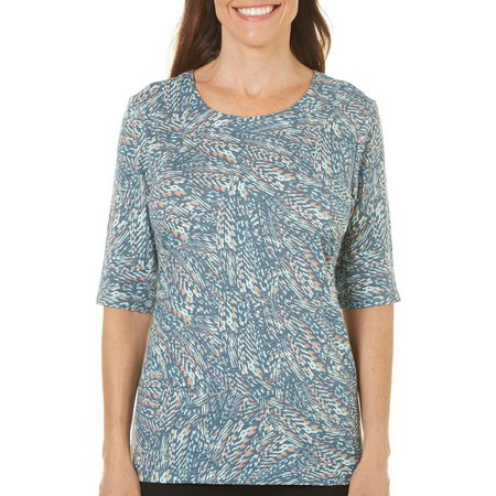 Coral Bay Petite Abstract Dash Top