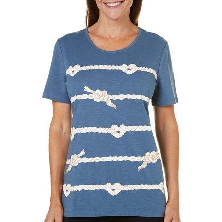 Coral Bay Petite Ocean Drive Rope T-Shirt