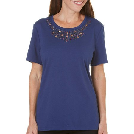 Coral Bay Petite St Augustine Embellishment Top