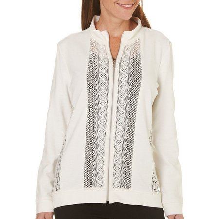 Coral Bay Petite Lace Panel Jacket