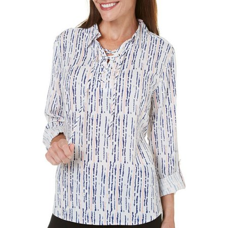 Coral Bay Petite St Augustine Print Woven Top