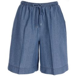 Coral Bay Petite Drawstring Denim Shorts