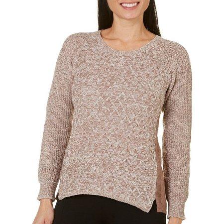 OneWorld Petite Long Sleeve Scoop Neck Sweater