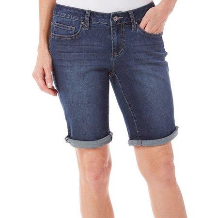 Earl Jean Petite Cuff Denim Shorts