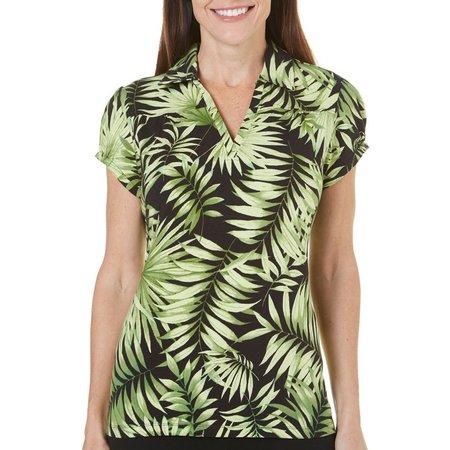 Caribbean Joe Petite Tropical Mist Polo Shirt