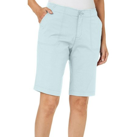 Caribbean Joe Petite Solid Skimmer Shorts