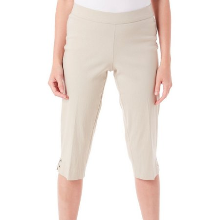 Counterparts Petite Pull-On Grommet Crop Capris