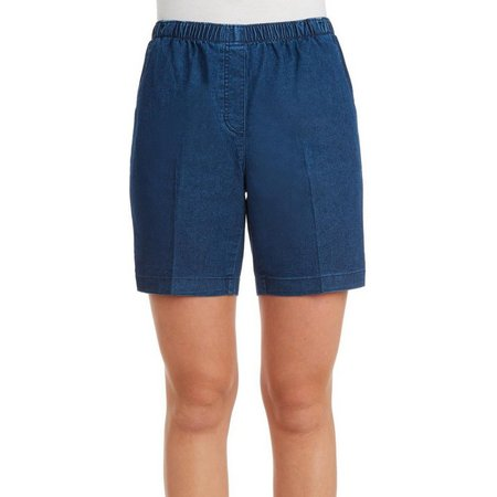Alia Petite Denim Pull-On Shorts
