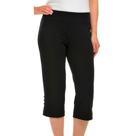 Alia Petite Solid Pull-On Knit Capris