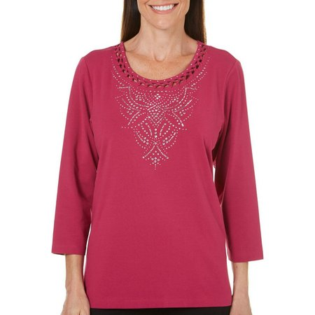 Alia Petite Dot Print Sweater