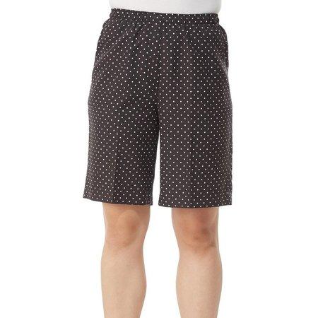 Alia Petite Pull-On Polka Dot Print Shorts