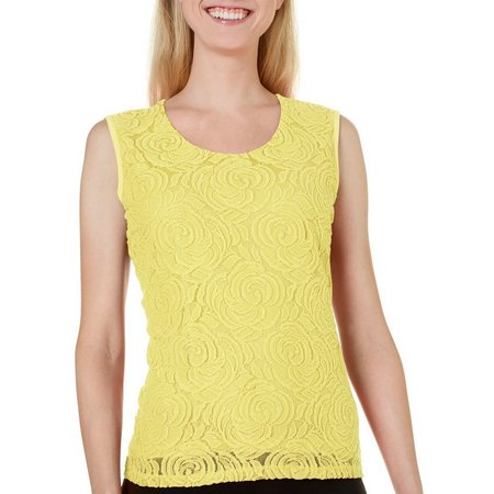Alia Petite Lace Over Tank Top
