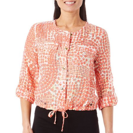 Hearts of Palm Petite Sunshine State Dot Jacket