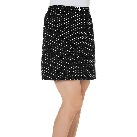 Hearts of Palm Petite Classic Dot Print Skort