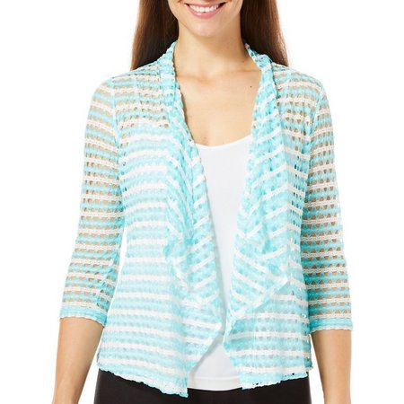 Hearts of Palm Petite Easy Breezy Lace Cardigan
