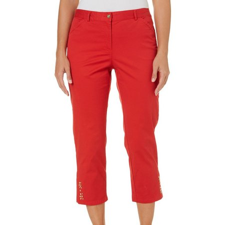 Hearts of Palm Petite Safari Expedition Bead Pants